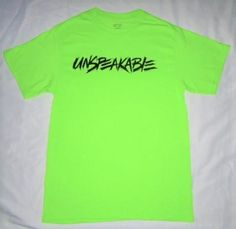 f39d550f556 This is Unspeakable s Signature Green T-Shirt but it has Unspeakable s NEW  DESIGNER FONT! This is the signature color of the UN