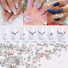 super shiny on sale at reasonable prices, buy CCBLING Super Shiny Bag Clear Crystal AB color Non HotFix FlatBack Nail Art Decorations Flatback Rhinestones from mobile site on Aliexpress Now! 3d Nail Art, Stone Beads, Clear Crystal, Abs, Crystals, Image, Color, Colour, Crunches