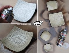 Made from air dry clay. Picture tutorial