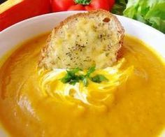 Pikantna zupa krem z dyni Soup Recipes, Recipies, Cooking Recipes, Healthy Recipes, Healthy Meals, I Love Food, Hummus, Food And Drink, Appetizers