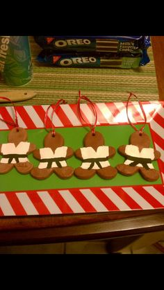 Karate gingerbread ornaments - made with craft clay great thank you gifts