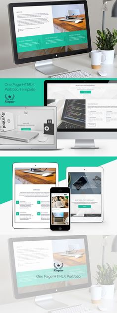 Kingster - One Page HTML5 Portfolio. HTML/CSS Themes. $12.00