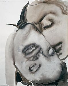 'The Passion' - 1994 - by Marlene Dumas (South African, b. 1953)