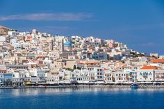 """Ermoupoli - the beautiful capital of Syros, located on the eastern side of the island. Ermoupoli is often called """"outdoor museum"""" as it has a wealth of attractions that the visitor can enjoy, simply by walking through its small alleys. The Visitors, Greek Islands, Greece Travel, Where To Go, San Francisco Skyline, Travel Inspiration, New York Skyline, Tourism, Places To Visit"""