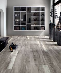 Ariana Legend Grey 8 in. x 48 in. Porcelain Wood Look Tile
