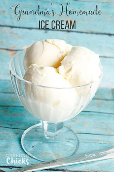 Grandma's Homemade Vanilla Ice Cream Recipe - This is the BEST recipe!!