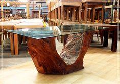Base Tronco para mesa de Jantar MU - LD para vidro