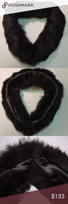 Vint Deep Black Fur Collar For Sweater or Blouse Vint Deep Black Fur Collar For Sweater or Blouse. We're not Experts nor Jewelers. All Items are Pre-loved, Pre-Worn, Vintage, Antique, or new. We examined & researched Ea item, We are not experts in any item we sell (Jewelry, Art, Designers, etc.), we may not catch every defect or deficiency, markings, title, or condition. Info is based on research, previous owner, and markings. 🎀 Designer is unknown. Vintage Sweaters V-Necks