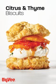 Biscuits made from scratch just got better! Layer your freshly baked biscuits with a citrus compote and a light and fluffy whipped topping. Milk And Eggs, Homemade Breakfast, Pastry Blender, Whipped Topping, Orange Slices, Salted Butter, Freshly Baked, Biscuits, Brunch