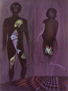A few days ago we posted a long article all about Czech Transgender Artist Toyen. An Avant-Garde artist and surrealist, s/he worked in all kinds of mediums. Modern Art, Contemporary Art, Avant Garde Artists, Max Ernst, Joan Miro, Sad Day, Art Academy, Magritte, Surreal Art
