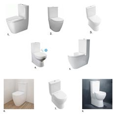 """""""Back To Wall Toilets"""" by insideout1 on Polyvore featuring interior, interiors, interior design, home, home decor and interior decorating"""