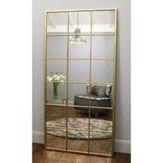 Stylish window mirror in an industrial vintage gold finish. Ideal for creating a faux window effect or as a normal vintage mirror. Measures x Learn more. Gold Framed Mirror, Wood Mirror, Diy Mirror, Faux Window, Window Mirror, Living Room Decor, Bedroom Decor, Home Living Room, Full Length Mirror Gold