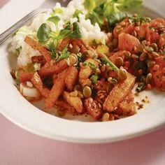 Zdravá dvojkombinácia: Tofu rezance so šošovicou Tofu, Kung Pao Chicken, Vegan, Ethnic Recipes, Vegans