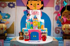 What a great cake at a It's A Small World  birthday party! See more party ideas at CatchMyParty.com!