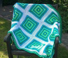 Cheerful crochet blanket, granny square blanket