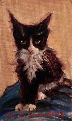 """Daily Paintworks - """"Ready to Pounce"""" - Original Fine Art for Sale - © Jonelle Summerfield"""