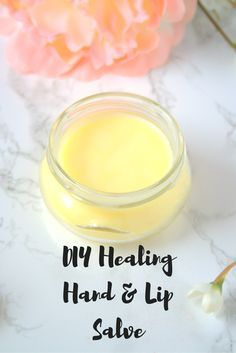 A healing salve made from coconut oil, pure beeswax, and vitamin E oil. Quick and easy to make. You'll have soft smooth skin in no time! | The Refreshanista