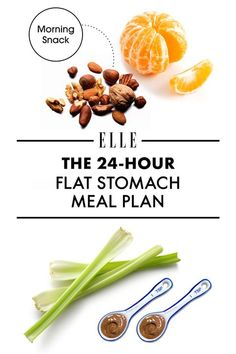 The Flat Stomach Meal Plan While it's not possible to uncover a six-pack overnight, it is possible to reduce bloat in hours just by eating strategically—even without subsisting on niche superfoods that you have to search 12 health-food stores to fi Healthy Diet Recipes, Healthy Life, Healthy Snacks, Healthy Eating, Flat Belly Foods, Foods For Flat Stomach, Fat Burning Foods, Diet Meal Plans, Superfoods