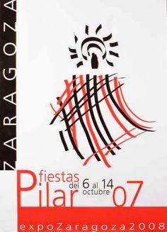 Cartel a concurso del Pilar año 2007 Titulo: Manto de Fiestas II