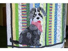 Handmade Lap Quilt with Dog Applique - Online Fundraising Auction - BiddingForGood