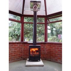 """Conservatory woodburning stove install kit (for 6"""" stove flue)"""