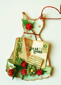 dress gift tag