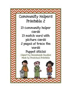 Community Helpers Printable 2 from Fun Printables for Preschoolers on TeachersNotebook.com - (13 pages) - Printable: The activities in this pack are designed to have fun while the child learns a variety of preschool concepts including number, color, patterns, sequence, size, letters and more.