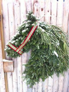 Horse Wreath, I Love this, polo house