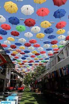 Antalya, Turkey, Antalya, Turkey - Umbrellas swaying overhead!