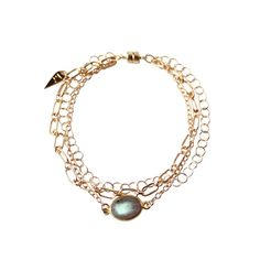 STAX LABRADORITE MAGNETIC BRACELET GOLD FILLED with magnetic clasp! - EMMY TRINH JEWELRY