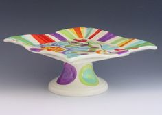 Cake Stand  Jubilation Cake Plate  Colorful by romyandclare, $88.00