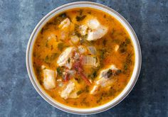 Fish stew, great with cod. Double wine and add some more spices (Paul Prudhomme blackened fish seasoning). Super fast.