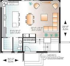 Rez-de-chaussée Maison contemporaine lumineuse, petit budget, 3 chambres, garde-manger, grande douche - Phénix