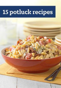 15 Potluck Recipes – Don't be surprised if you find yourself invited to more potluck dinners when you start drawing on the easy appetizer, salad and dessert recipes in this collection!