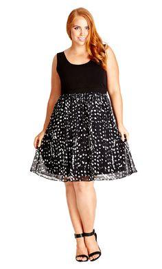 City Chic - CUTE SPOT DRESS - Women's Plus Size Fashion City Chic - City Chic…