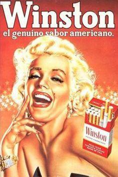 1950s: Marilyn Monroe magazine advert for Winston cigarettes .... #normajeane #vintagemagazine #pinup #iconic #raremagazine #magazinecover #hollywoodactress #monroe #marilyn #1950s