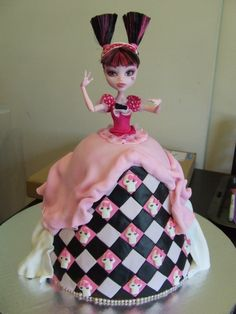 Monster High Doll cake...this would make the cutest cake for my niece who wants a Monster High themed b-day party