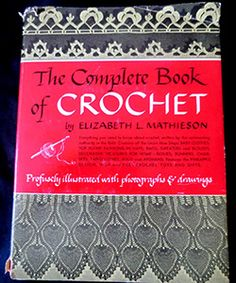 Exploring Vintage Crochet and Craft History: Complete Book of Crochet Filet Crochet, Crochet Motif, Irish Crochet, Crochet Stitches, Knit Crochet, Thread Crochet, Crochet Symbols, Crochet Borders, Crochet Bookmarks