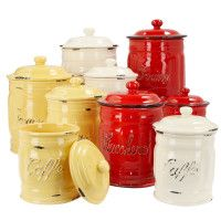 Italian Ceramic Coffee Canisters
