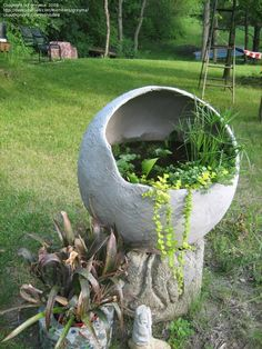 "Wow, hypertufa water garden made by ""greyma"" on Dave's Garden . . . I want one!"