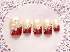 Japanese nail art waloli sakura cherry blossom elegant by Aya1gou, $19.80