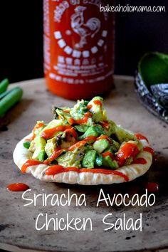 Siracha avocado chicken salad