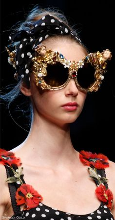 My personality .. in sunglasses form. Dolce & Gabbana Spring 2016