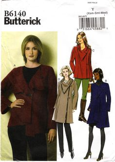 Butterick 6140 Misses' Jacket and Coat