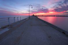 St Kilda Beach sunset, Melbourne.