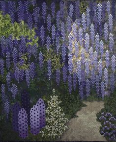 "Here's a hexagon quilt I can appreciate! Ans Schipper-Vermeiren ""Blauwe regen (Wisteria) Haaften, The Netherlands."
