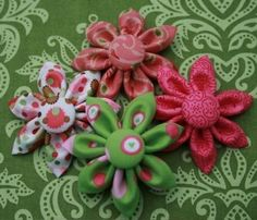 Always searching Etsy for fun hair bows for my baby girl.  Love these!