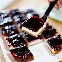 Pioneer Woman Blackberry Cheesecake Squares. These are so delicious-- thank goodness I found this recipe to pin and make again