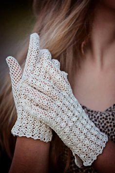 Vintage Style Crochet Lace Popcorn Stitch by WillowFairyJewelry, $46.00