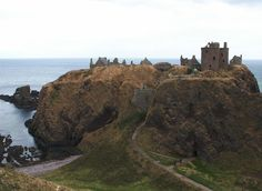 Ancient Scotland | The castle from the west, looking out to the North Sea.